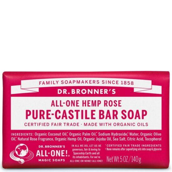 Dr. Bronner's Rózsa szilárd szappan 140g