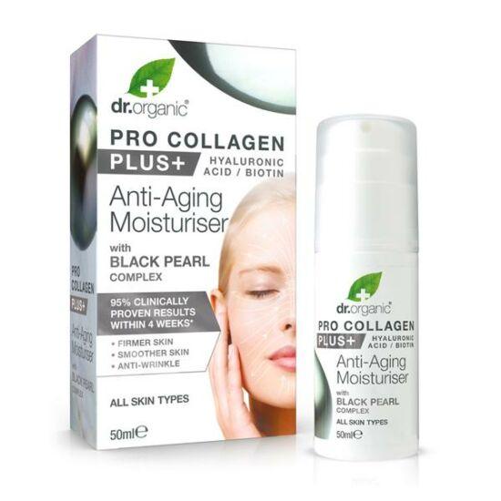 Dr. Organic Pro Collagen Anti-Aging hidratáló arckrém fekete gyönggyel 50ml