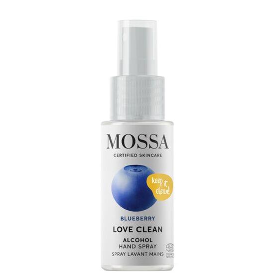 Mossa Love Clean Kéztisztító spray 70% növényi alkohollal 50ml