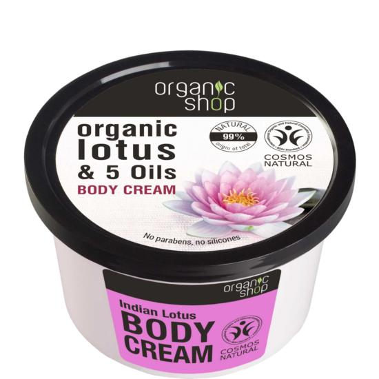 Organic Shop Testápolókrém Indiai lótusz 250ml