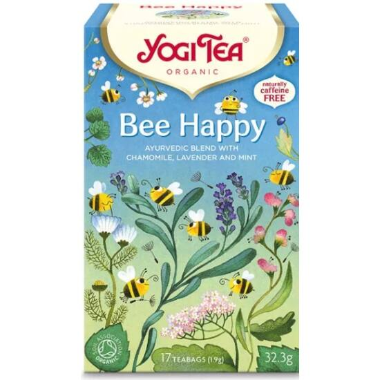 Yogi Tea Bee Happy Boldog zsongás, 17 filter x 1.9g (32.3g)