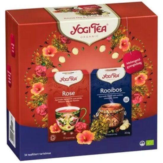 Yogi Ajándékcsomag Yogi teákkal - Melengető gyengédség szett 2 x 17 filter (61,2g)
