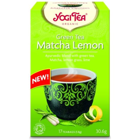 Yogi Tea Zöld Matcha citrom tea, 17 filter x 1.8g (30.6g)