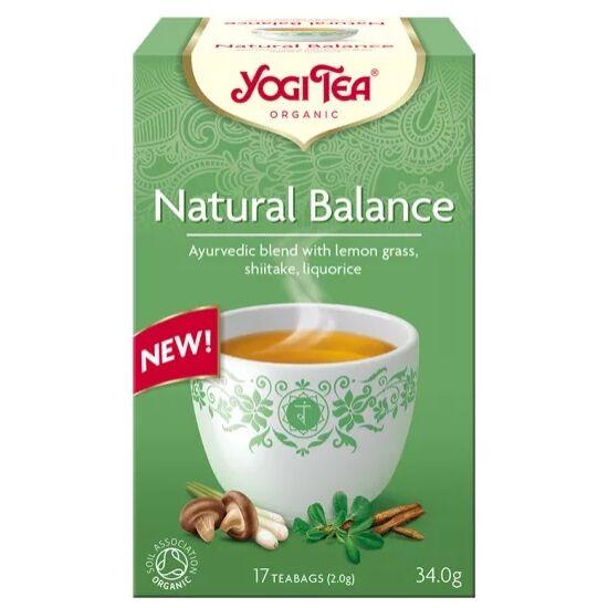 Yogi Tea Természetes egyensúly bio tea shiitake gombával, 17 filter x 2g (34g)