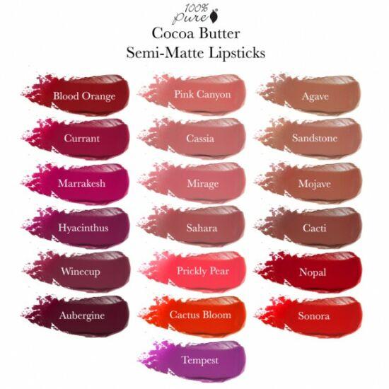 100% Pure Fruit Pigmented® Cocoa Butter Matte Lipsticks