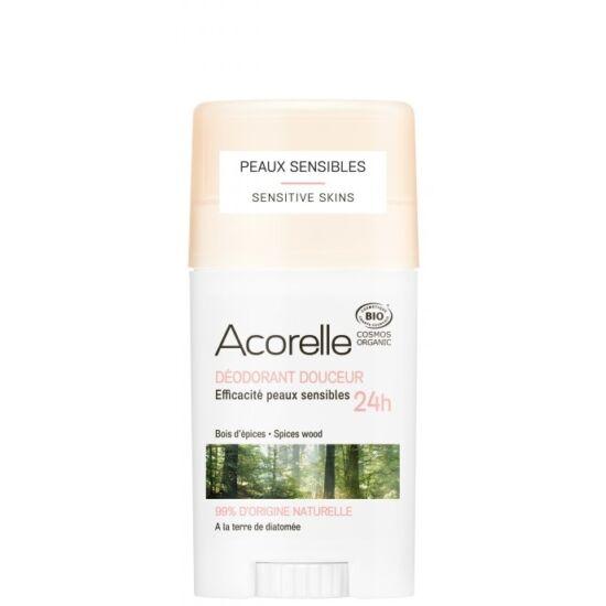 Acorelle Organikus Gyengéd dezodor stift - Fás-fűszeres 45g