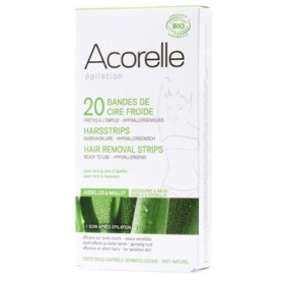 Acorelle Bio hideggyanta szőrtelenítő csík - bikinivonalra és hónaljra 10x2 db (4,8ml)