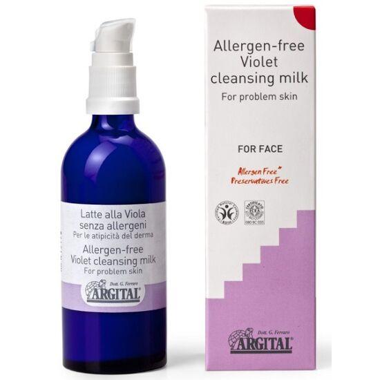 Argital Allergénmentes vadárvácska arctisztító tej 100ml
