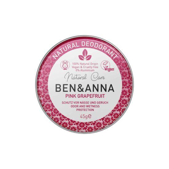 Ben & Anna Natúr tégelyes krémdezodor - Pink Grapefruit 45g