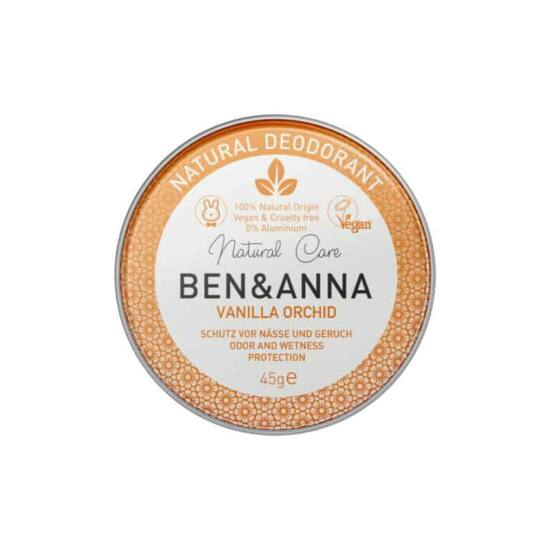 Ben & Anna Natúr tégelyes krémdezodor - Vanilla Orchid 45g