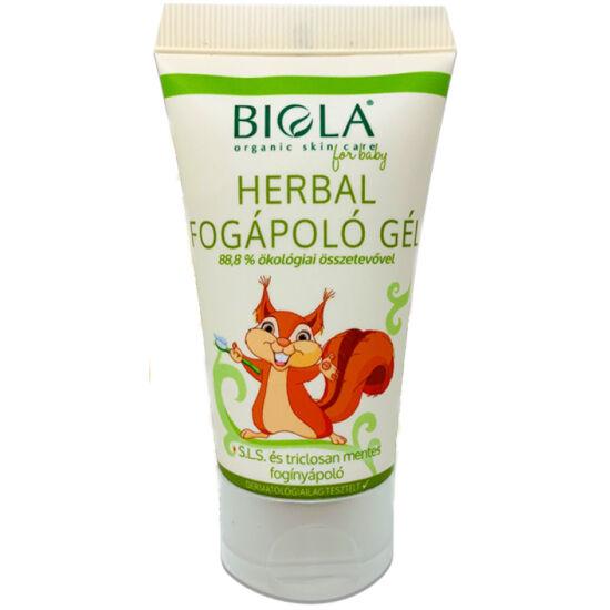 Biola Herbál fluoridmentes fogápoló gél 50ml