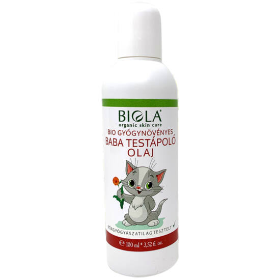 Biola Bio gyógynövényes baba testápoló olaj 100ml