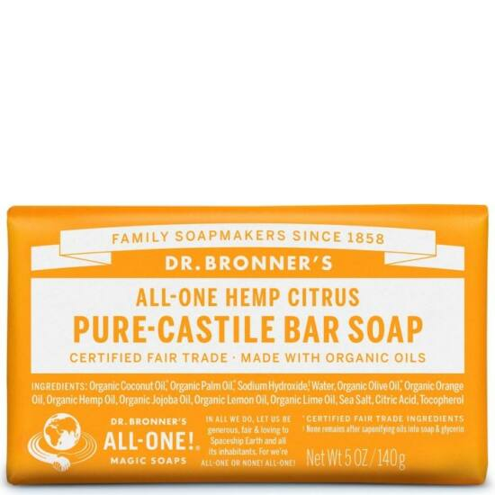 Dr. Bronner's Citrus-narancs szilárd szappan 140g