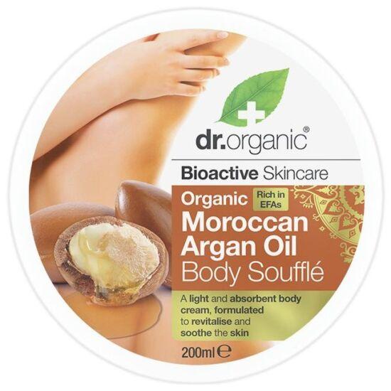 Dr. Organic Testápoló szuflé marokkói bio argánolajjal 200ml