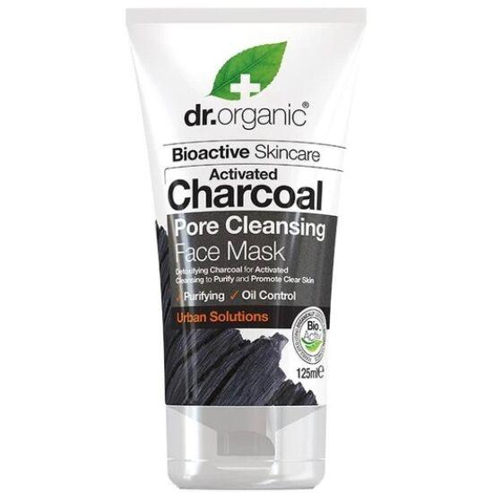 Dr. Organic Pórustisztító arcpakolás aktív szénnel 125ml