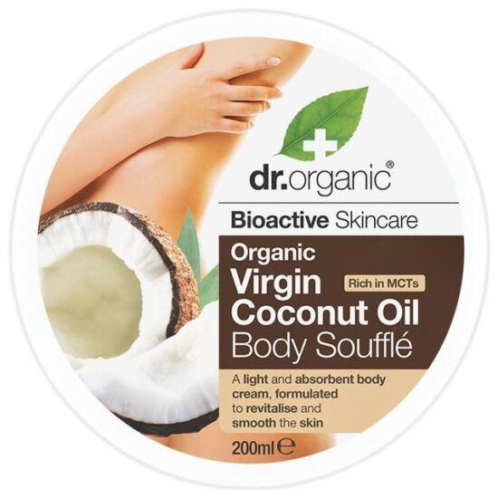 Dr. Organic Testápoló szuflé bio szűz kókuszolajjal 200ml