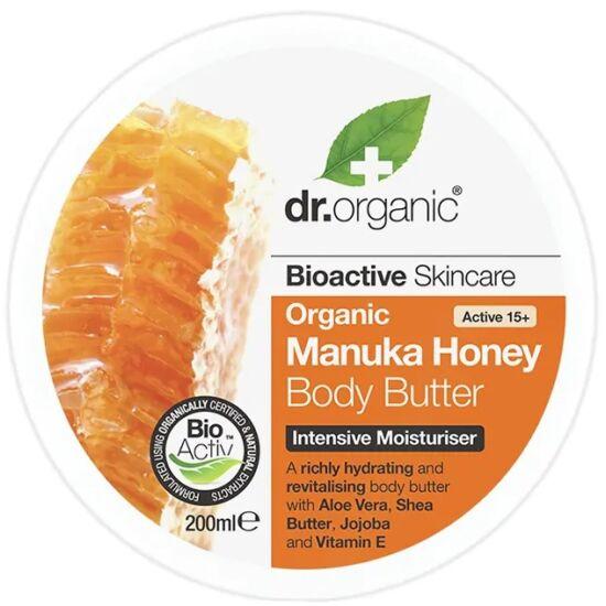 Dr. Organic Testápoló vaj bio manuka mézzel 200ml