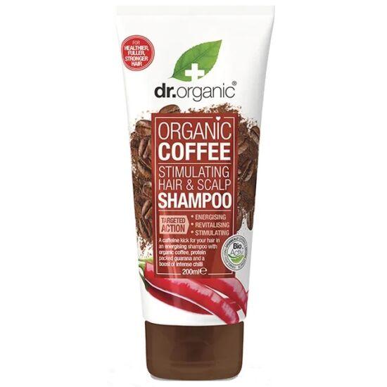 Dr. Organic Haj- és fejbőrstimuláló sampon bio kávéval 200ml