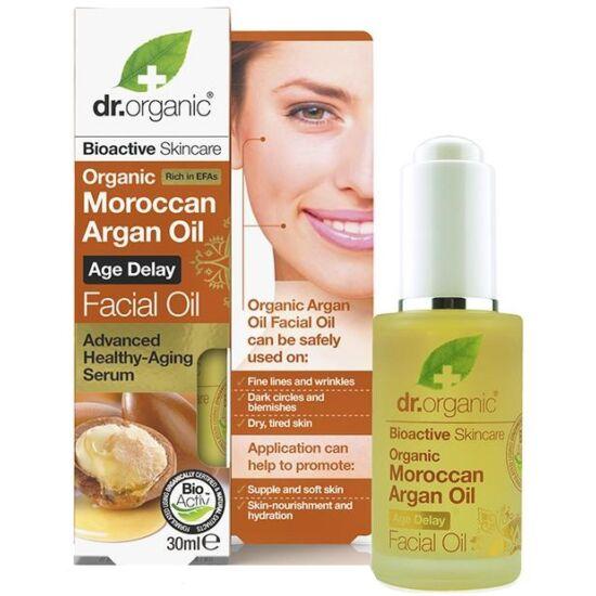 Dr. Organic Arcápoló olaj marokkói argánolajjal 30ml