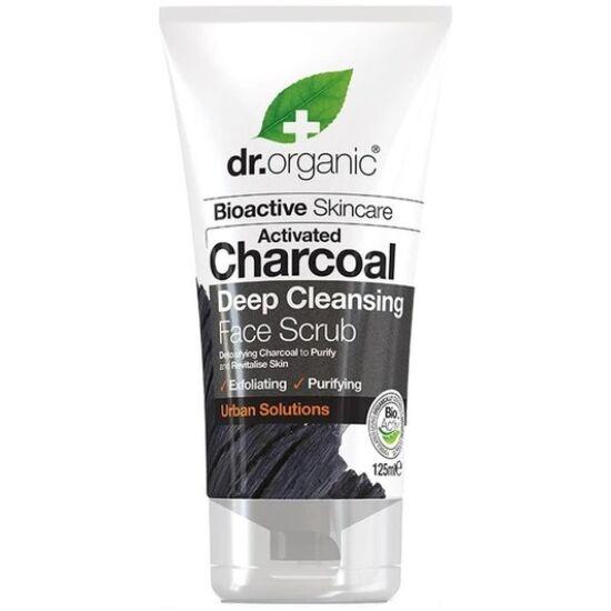 Dr. Organic Mélytiszító arcradír aktív szénnel 125ml