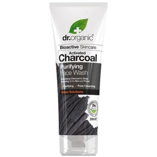 Dr. Organic Mélytisztító arclemosó aktív szénnel 200ml