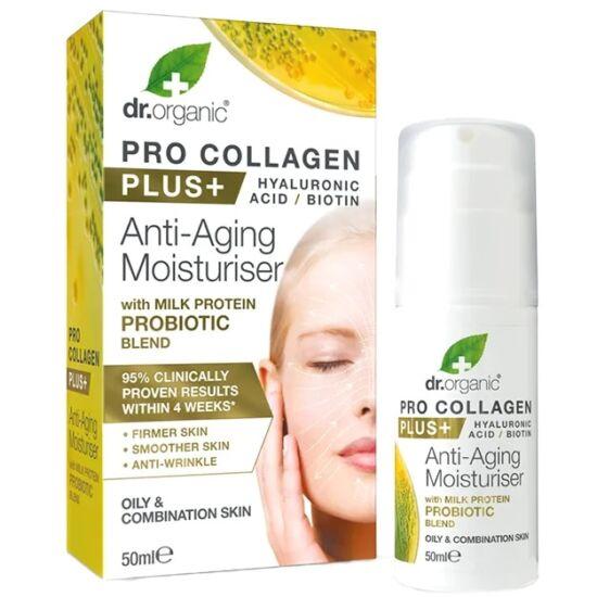 Dr. Organic Pro Collagen Anti-Aging hidratáló arckrém tejprotein probiotikummal 50ml