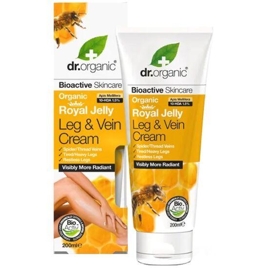 Dr. Organic Seprűvénás lábápoló krém bioaktív méhpempővel 200ml
