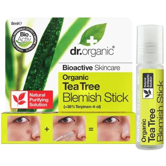 Dr. Organic Ecsetelő gél bio teafa olajjal pattanások kezelésére 8ml