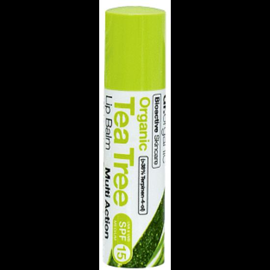 Dr. Organic Ajakbalzsam teafaolajjal 5,7ml
