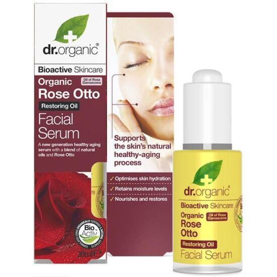 Dr. Organic Arcápoló szérum damaszkuszi rózsaolajjal 30ml