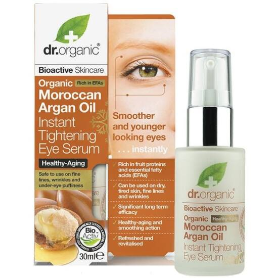 Dr. Organic Szemkörnyék feszesítő szérum marokkói bio argánolajjal 30ml