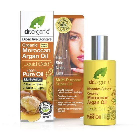 Dr. Organic Folyékony arany 100%-os marokkói bio argánolaj 50ml