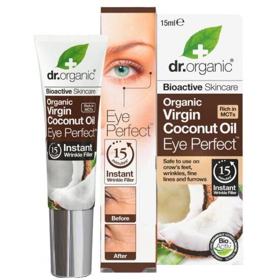 Dr. Organic Szemkörnyék feszesítő szérum bio szűz kókuszolajjal 15ml