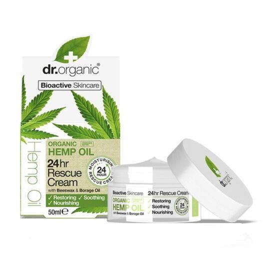 Dr. Organic Elsősegély 24 órás krém bioaktív kendermagolajjal 50ml