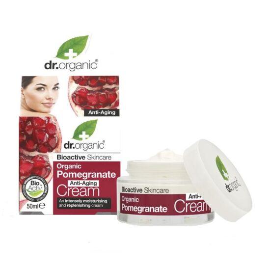 Dr. Organic Öregedésgátló nappali krém bio gránátalmával 50ml