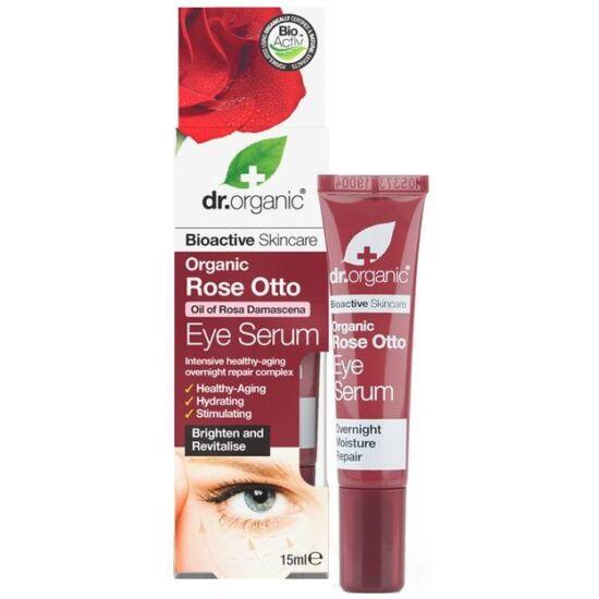 Dr. Organic Szemkörnyék ápoló szérum bio damaszkuszi rózsaolajjal 15ml