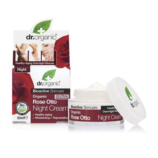 Dr. Organic Éjszakai krém damaszkuszi rózsaolajjal 50ml