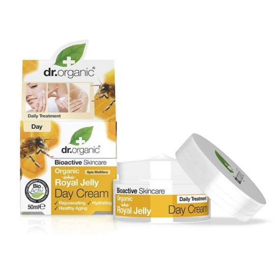 Dr. Organic Nappali krém bio méhpempővel 50ml