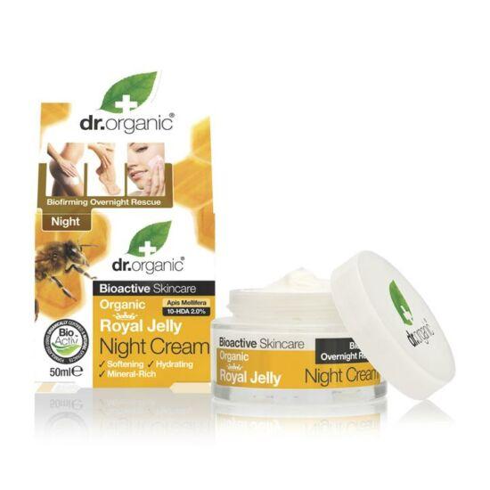 Dr. Organic Éjszakai krém méhpempővel 50ml