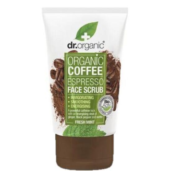 Dr. Organic Élénkítő arcradír bio kávéval 125ml