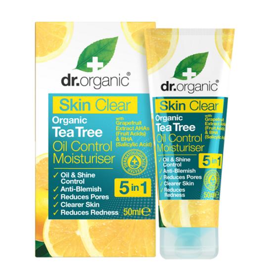 Dr. Organic Skin Clear Mattító hidratáló arckrém 5 az 1-ben 50ml