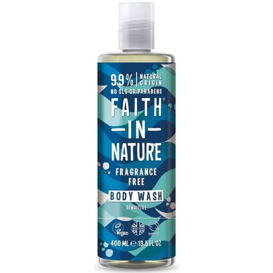 Faith in Nature Fragrance Free - Illatmentes tusfürdő 400ml