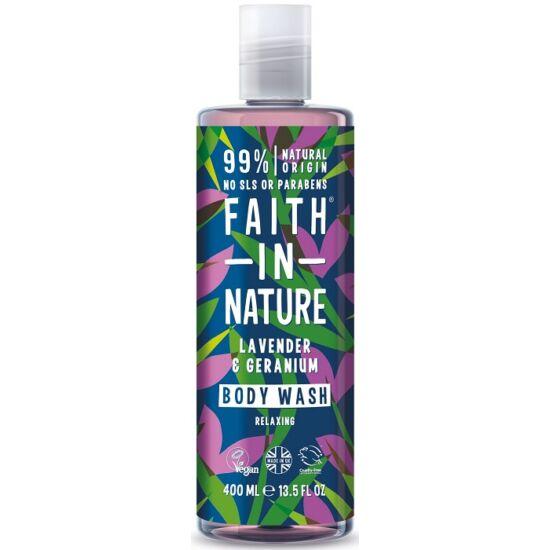 Faith in Nature Levendula és geránium tusfürdő és habfürdő 400ml