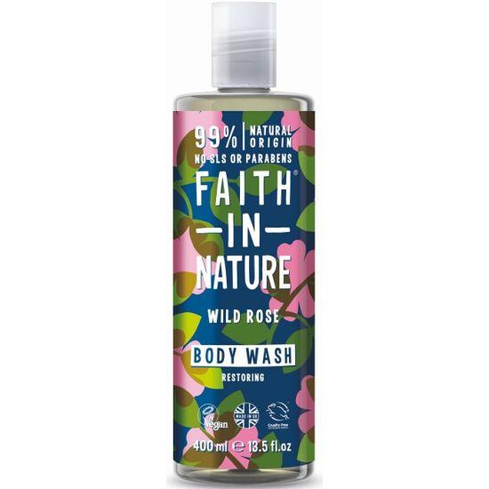 Faith in Nature Vadrózsa tusfürdő és habfürdő 400ml