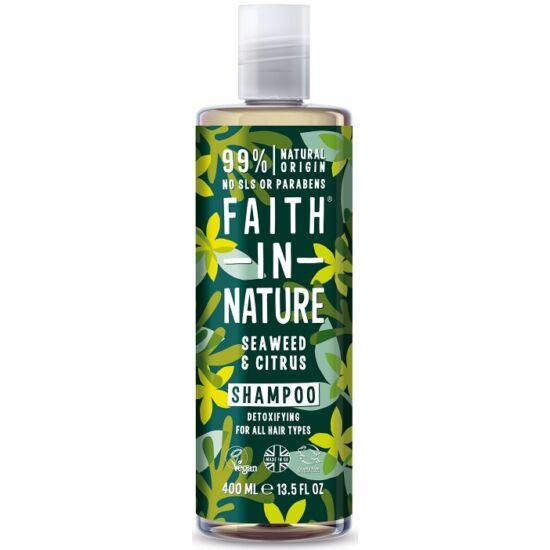 Faith in Nature Tengeri hínár és citrus sampon 400ml
