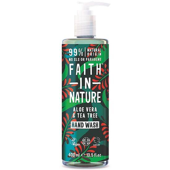 Faith in Nature Bio aloe vera és teafa folyékony kézmosó 400ml