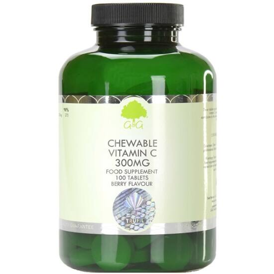 G&G C-vitamin rágótabletta málna-meggy ízű 300mg 100 tabletta