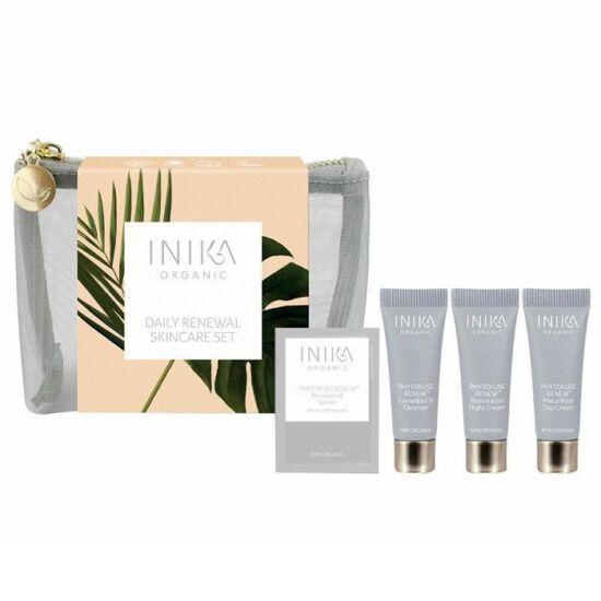 Inika Skincare Gift Set - Daily Renewal Skincare bőrápoló kezdőszett