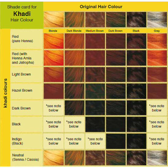 Khadi Hair Colour - Natural Hazel 100g
