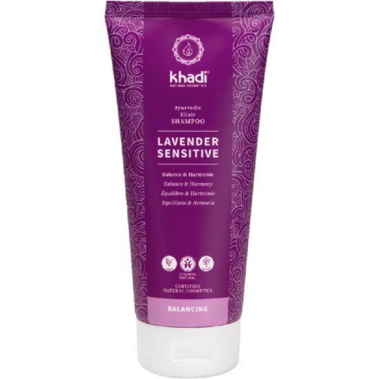 Khadi Lavender Sensitive sampon ayurvédikus elixírrel 200ml